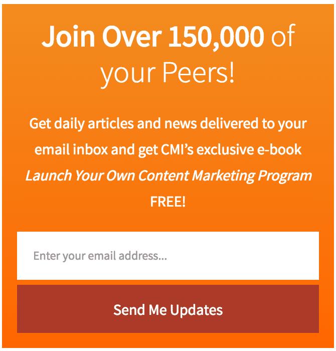 content marketing institute newsletter