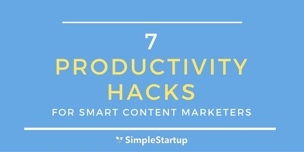 productivity hacks for content marketers