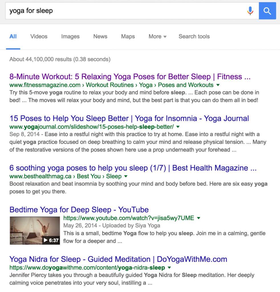 yoga for sleep seo