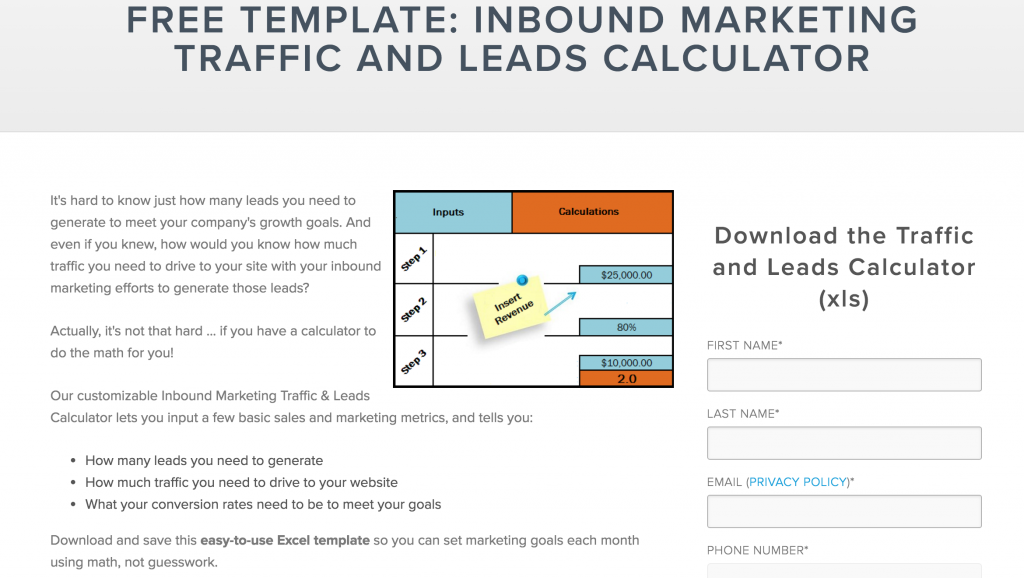 hubspot inbound marketing template