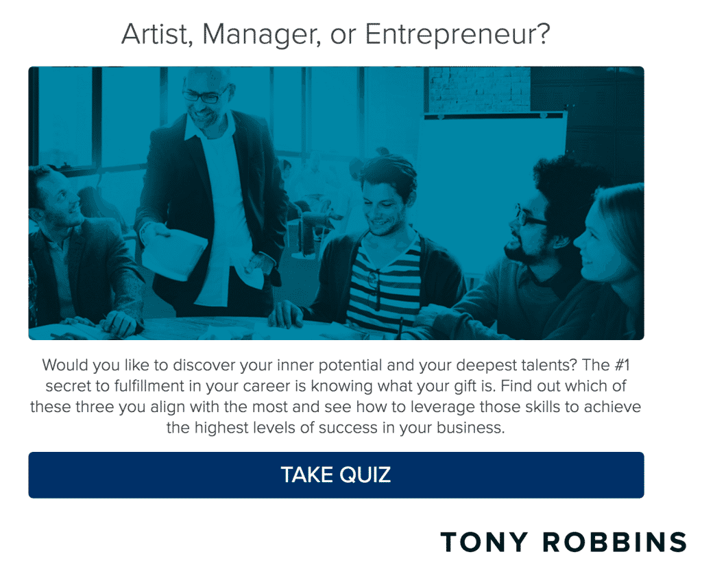 tony robbins business quiz