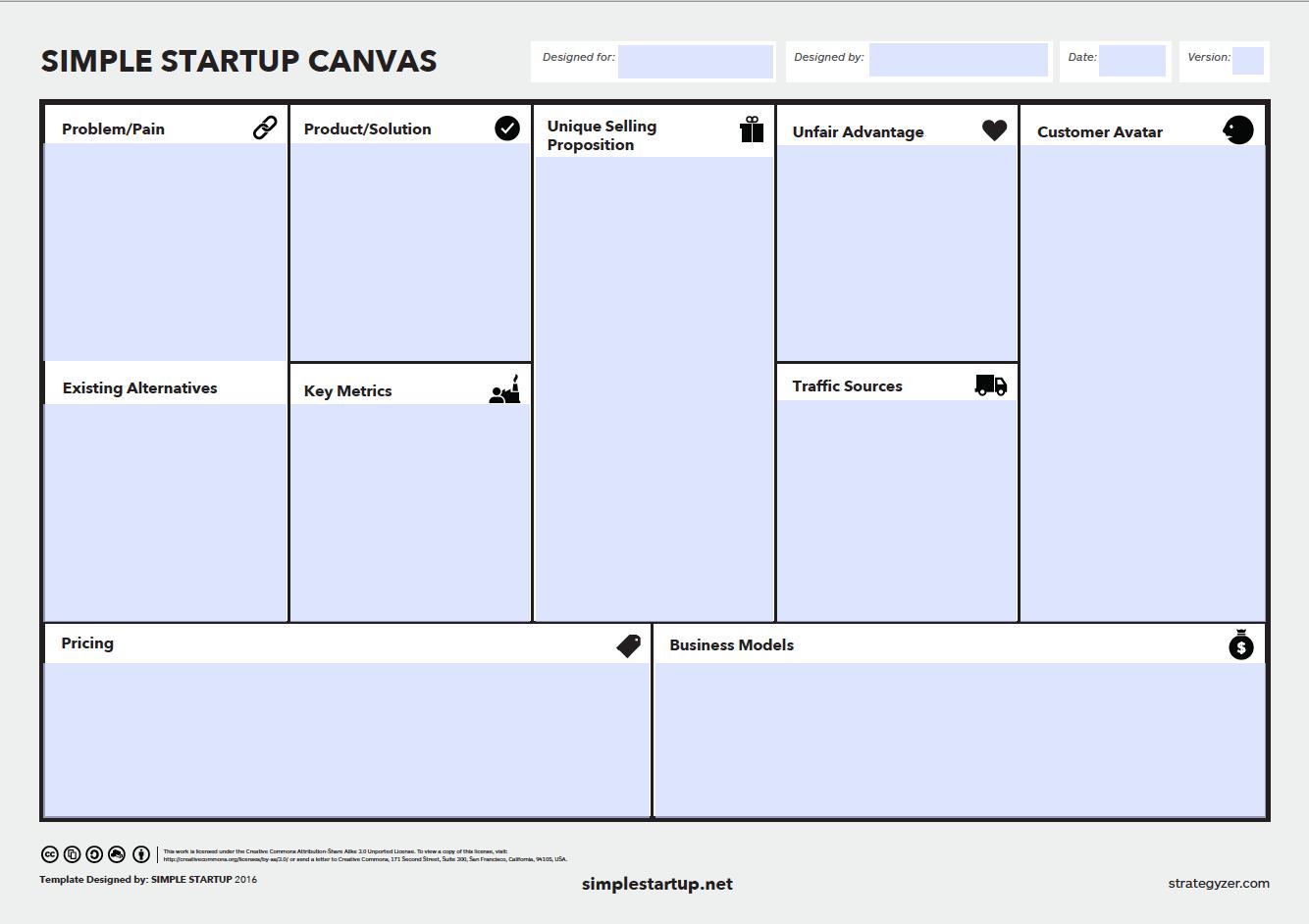 entrepreneurship business plan template